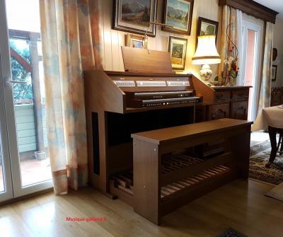 OPUS 255 JOHANNUS orgue d'étude 2 claviers - Chêne teinté foncé