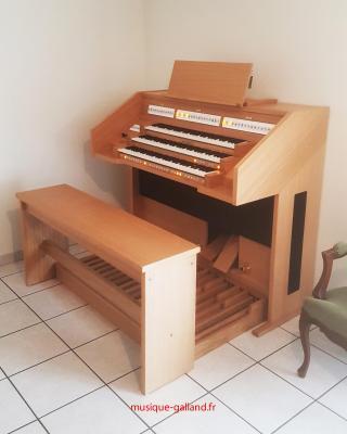OPUS 355 JOHANNUS orgue d'étude 3 claviers - Chêne clair