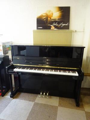 WILH.STEINBERG piano droit neuf P118 noir brillant