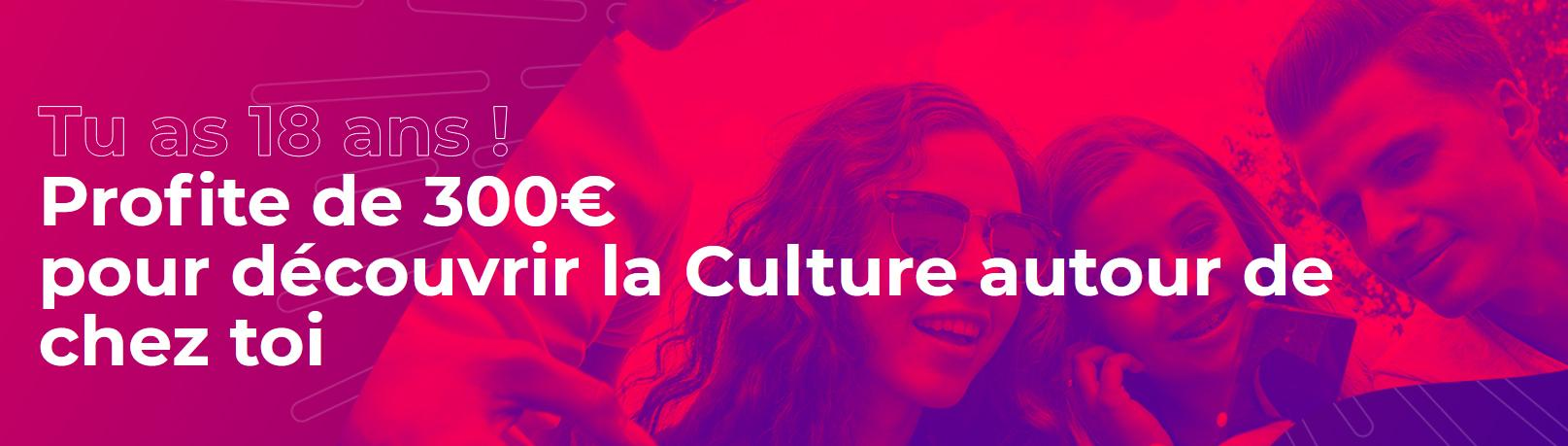 Pass culture 300 banniere