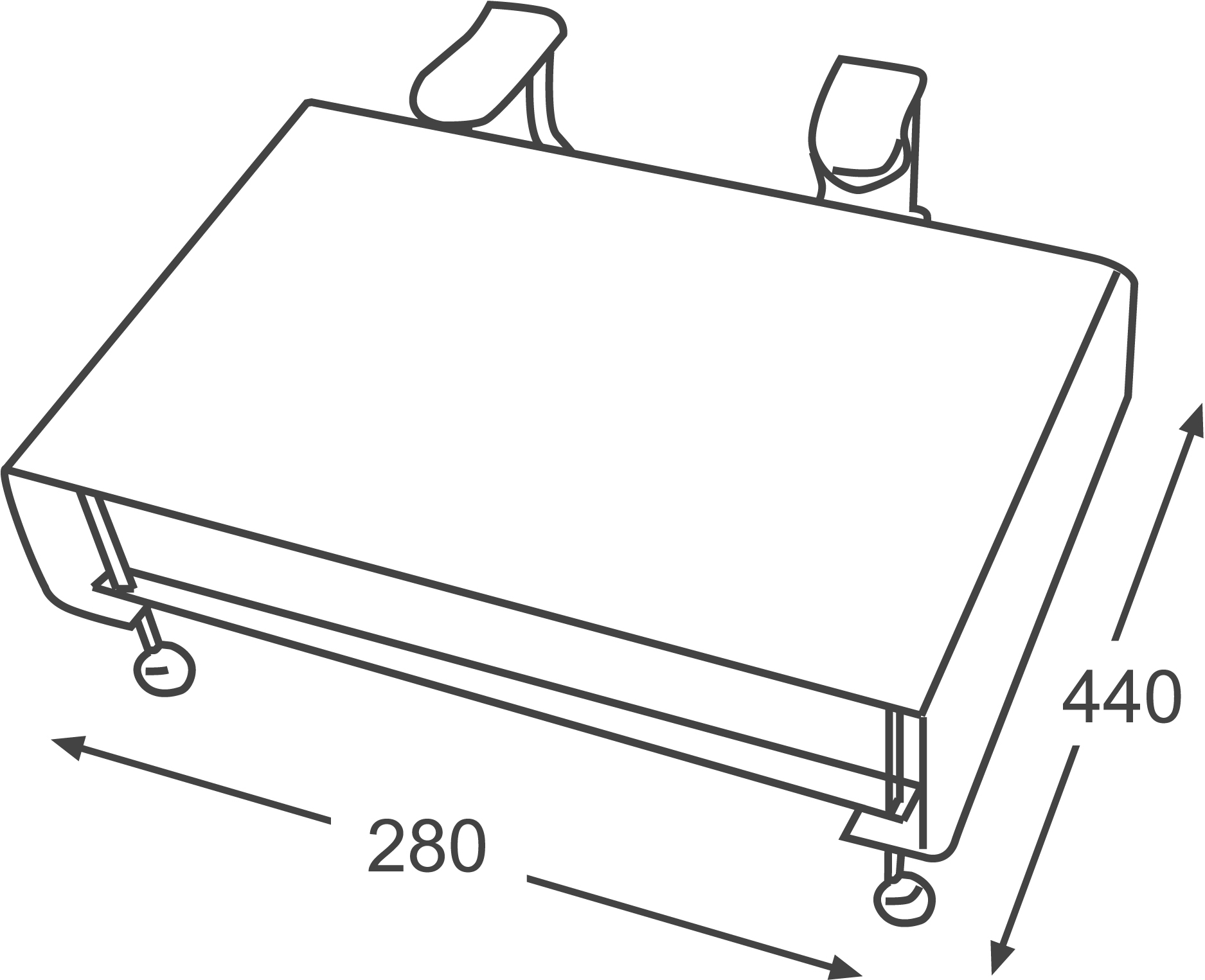 Pedalier ap22 dimens