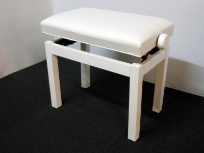 PRESTIGE-30-BM superbe banquette DESIGN  BLANC MAT - SKAI blanc