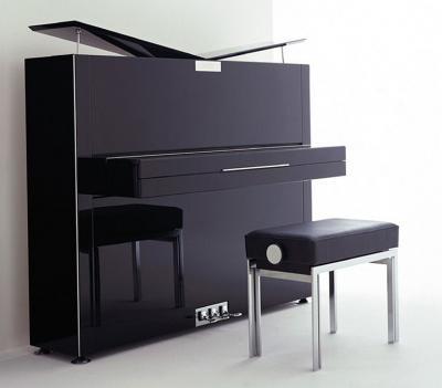 SAUTER  piano droit 122-PURE NOBLE noir brillant