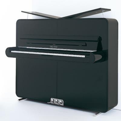 Piano neuf SAUTER  125-RONDO-DESIGN Peter MALY noir brillant