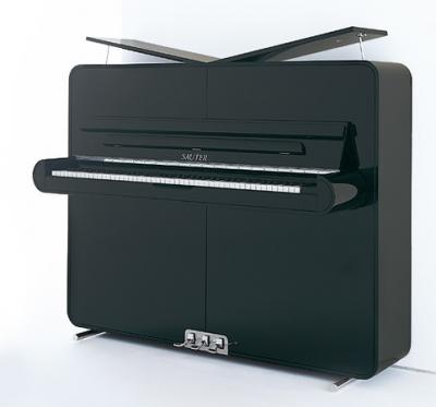 SAUTER  piano droit 122-RONDO noir brillant