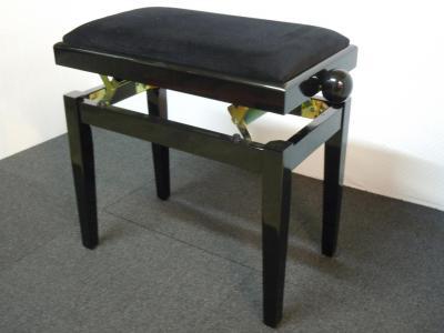 RONDO 400-NB-VN banquette piano Noir BRILLANT - VELOURS noir
