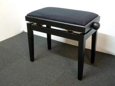 RONDO 407-NM-VN banquette piano Noir MAT - VELOURS noir