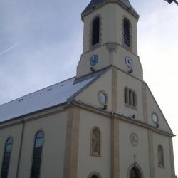 EGLISE St Jean Baptiste ( 1875 ) à Roppentzwiller ( 68 )