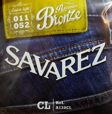 SAVAREZ 11-52  CUSTUM-LIGHT A130CL jeu de cordes Folk bronze