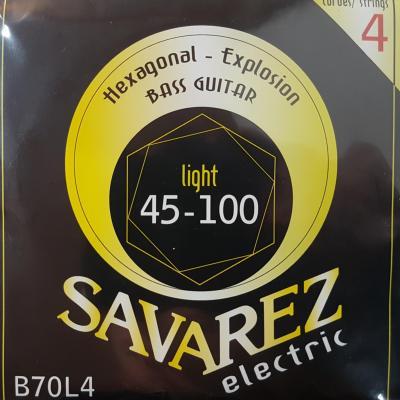 SAVAREZ B70L4 LIGHT 45-100 jeu de cordes Guitare Basse électrique