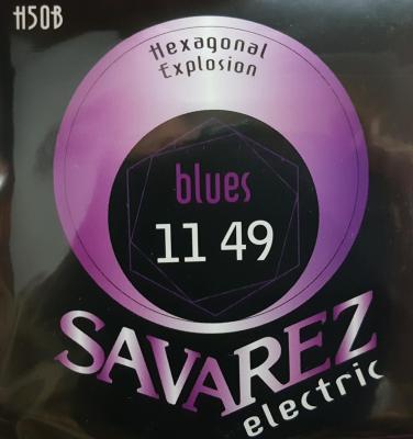 SAVAREZ H50B 11-49 BLUES jeu de cordes Guitare Electrique