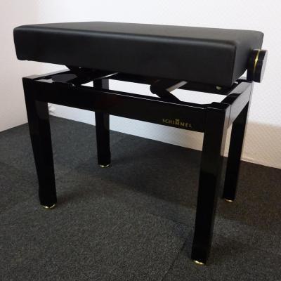 Banquette signature SCHIMMEL Noir BRILLANT  dessus CUIR (modèle expo)