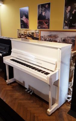 WILH.STEINBERG piano droit neuf P118 blanc brillant version CHROME