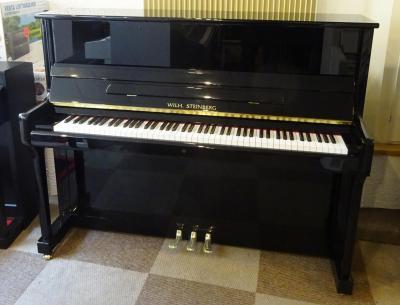 LOCATION-VENTE d'un piano droit Wilhelm STEINBERG  modèle  P-118 noir brillant ( neuf)