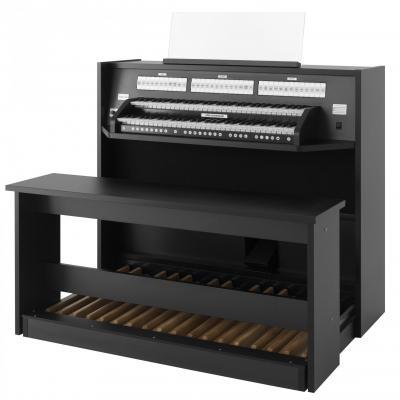 STUDIO 150 JOHANNUS  orgue d'étude 2 claviers - Mélamine Black North Wood