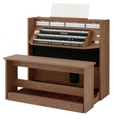 STUDIO 350 JOHANNUS  orgue d'étude 3 claviers - Mélamine Nautilus Teak
