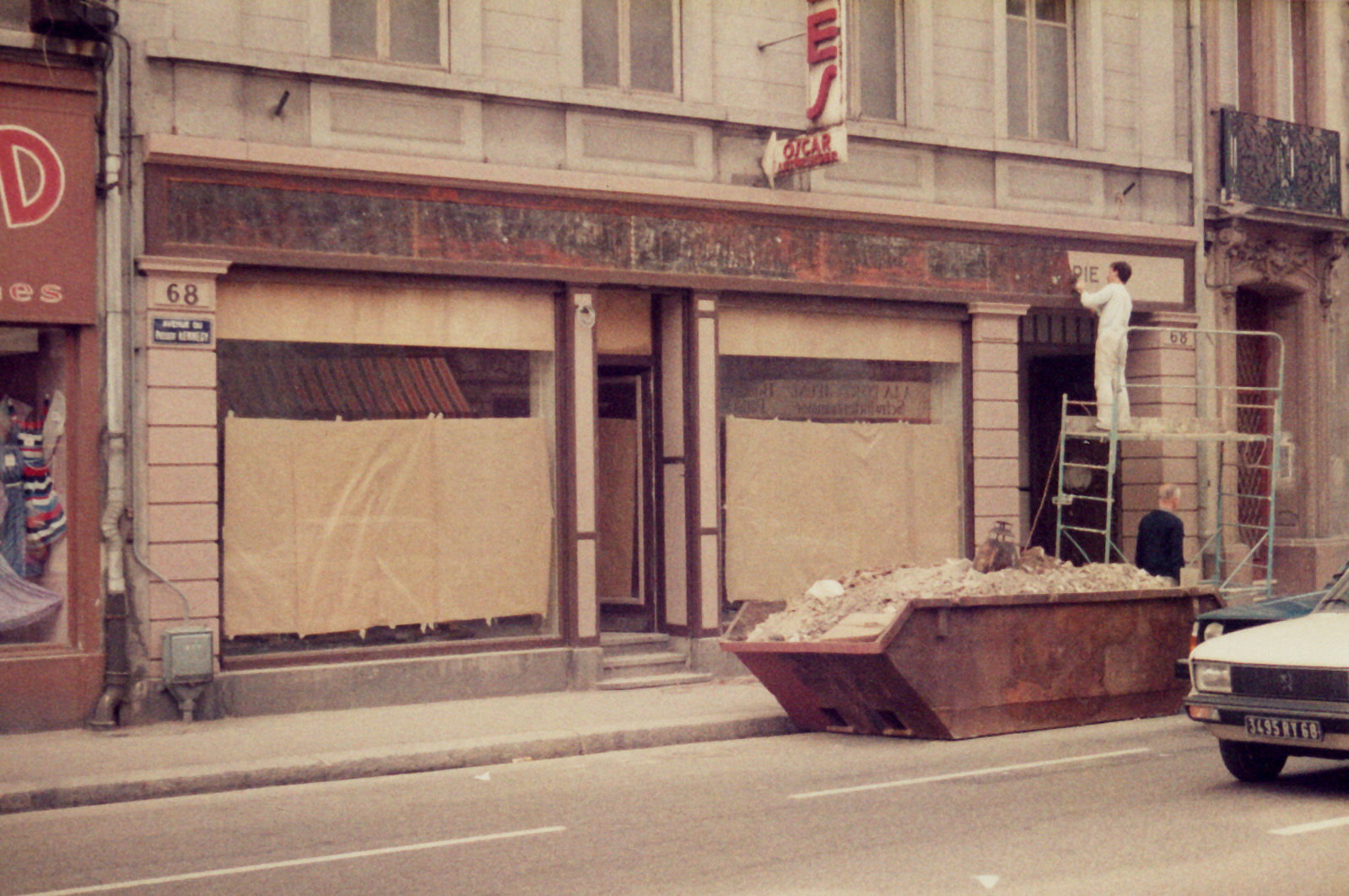 Travaux facade 68 en 1984