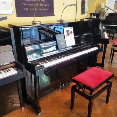 Piano neuf WILH.STEINBERG P121-NOIR CHROMÉ (Disponible)