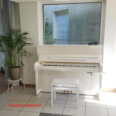 Piano neuf WILHELM-Schimmel W114-TRADITION-BLANC