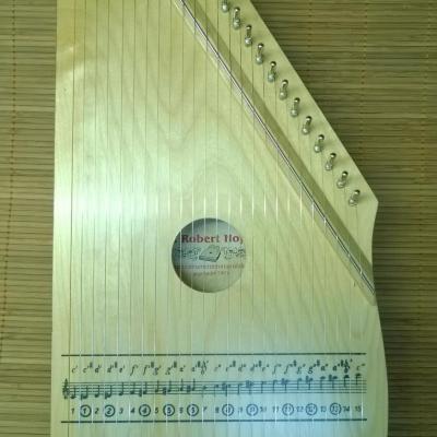200-4 Cithare d'initiation en 25 cordes simples  : naturelle