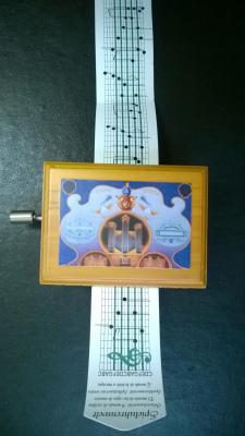 Petit Componium décoré 15 notes