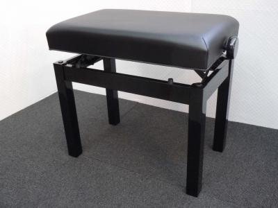 PRESTIGE-30-NB superbe banquette DESIGN Noir BRILLANT - SKAI noir