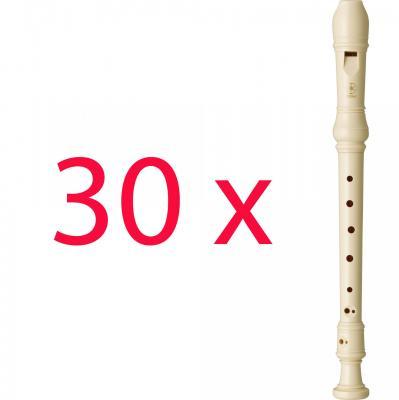 30 Flutes :  Scolaire baroque YAMAHA YRS24B Soprano crème